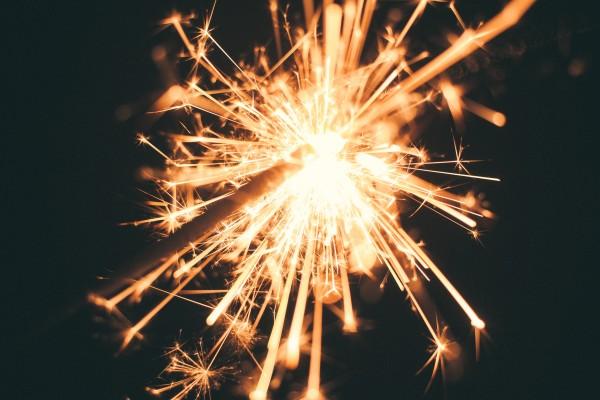 unsplash - sparkler